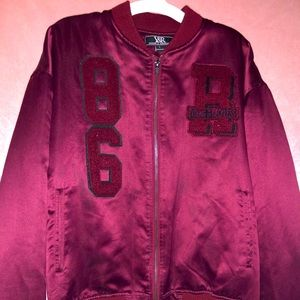 Y&R Satin Letterman styled jacket